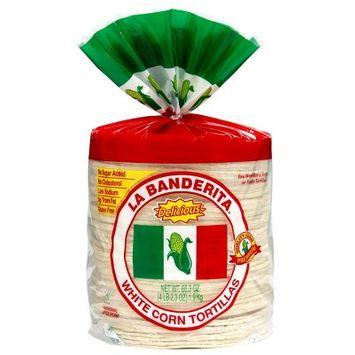 La Banderita White Corn Tortillas - 8ct