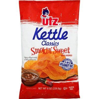 Utz Kettle Classics Smokin' Sweet Kettle Cooked Potato Chips - 8oz