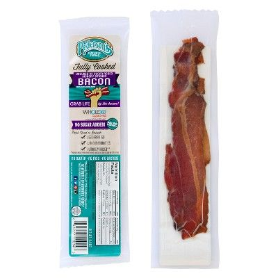Pederson's Natural Farms Fully Cooked Uncured No Sugar Hickory Smoked Bacon Snack - 0.6oz