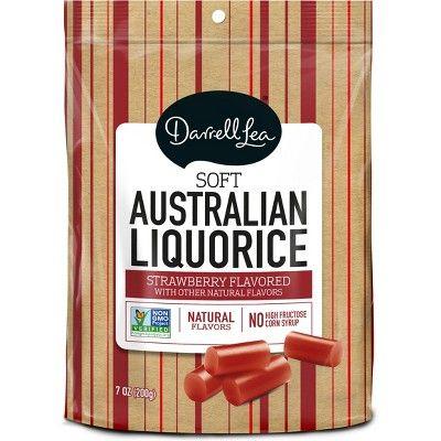 Darrell Lea Soft Eating Liquorice Strawberry Licorice Candy - 7oz
