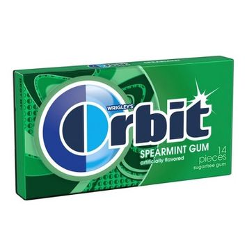 Orbit Spearmint Sugar Free Chewing Gum Single Pack -14 Piece