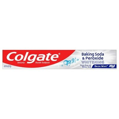 Colgate Baking Soda and Peroxide Whitening Toothpaste - Brisk Mint - 6oz