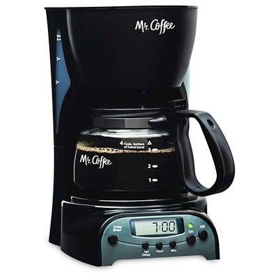 Slide: Mr. Coffee 4-Cup Programmable Coffee Maker, Black, DRX5-NP