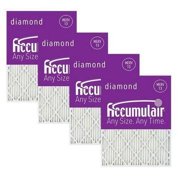 Accumulair 4pk 20x30x1 MERV 13 Diamond Filter White