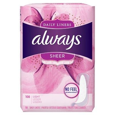 Always Light Absorbency Panty Liners - 108ct