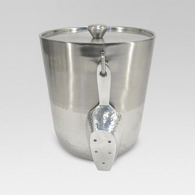 Hammered Metal Ice Bucket with Ice Scoop - Threshold™
