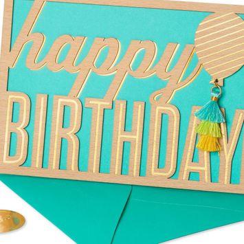 PAPYRUS Happy Birthday Tassel Balloon Cards