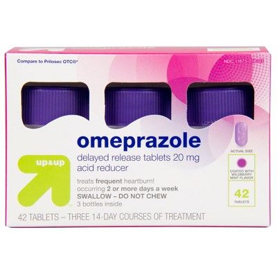 Up & Up Omeprazole 20mg Acid Reducer Delayed Release Tablets - Wildberry Mint Flavor - 42ct - Up&Up