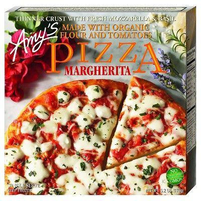 Amy's Frozen Thin Crust Margherita Pizza with Fresh Mozzarella & Basil - 6.2oz