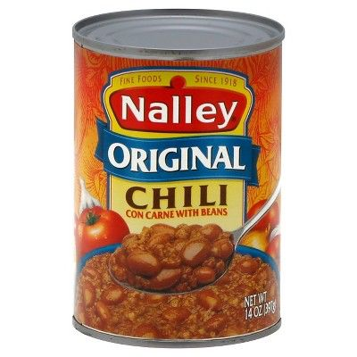Nalley Original Chili Con Carne with Beans 14 oz