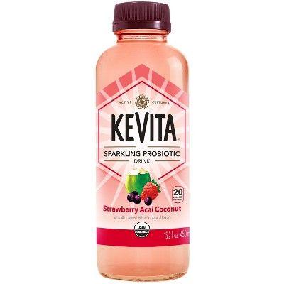 KeVita Strawberry Acai Sparkling Probiotic Drink - 15.2 fl oz