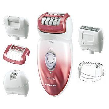 Panasonic Wet & Dry Women's 6pc Rechargeable Electric Epilator/Shaver/Pedicure Buffer Combo - ES-ED90-P