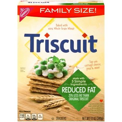 Triscuit Reduced Fat Crackers - Family Size - 12oz