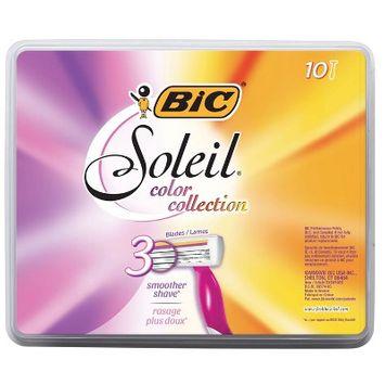 BIC Soleil Bella Sun-Twist Scented Women's Disposable Razor, Assorted, 10 Pack