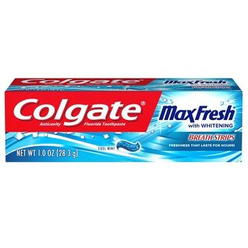 Colgate Max Fresh Whitening Toothpaste with Mini Breath Strips - Cool Mint - 1oz