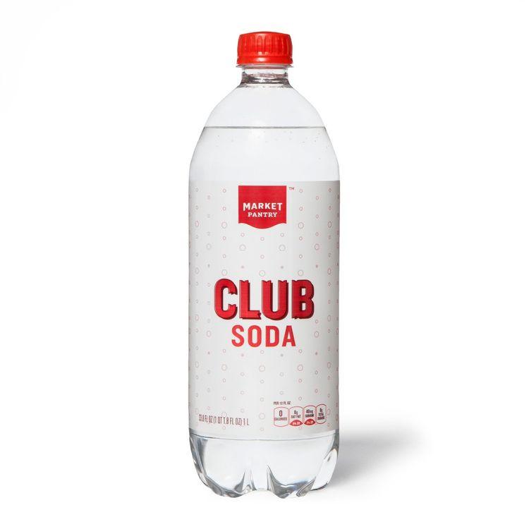 Club Soda 33.8 fl oz Bottle - Market Pantry