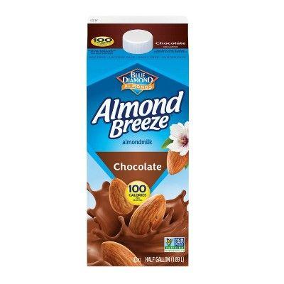 Blue Diamond Almond Breeze Chocolate Almond Milk - 0.5gal