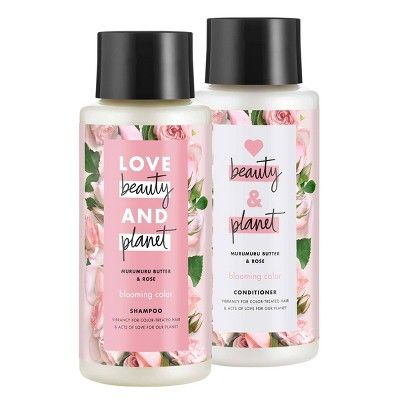 Love Beauty and Planet Muru Muru and Rose Shampoo and Conditioner - 2pk/13.5oz