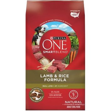 Purina ONE Natural Dry Dog Food, SmartBlend Lamb & Rice Formula - 31.1lb Bag