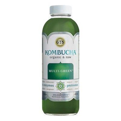 G.T.'s Enlightened Multi-Green Organic Vegan Raw Kombucha - 16 fl oz Bottle
