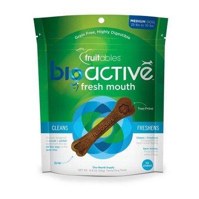 Fruitables BioActive Fresh Mouth Dental Chews Medium 10ct