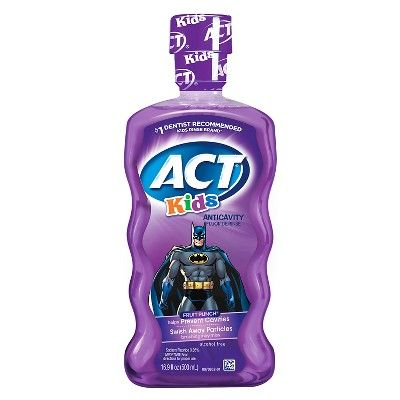 ACT Kids Anticavity Rinse Batman Fruit Punch - 16.9 oz