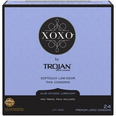 Trojan XOXO Lubricated Condoms - 24ct