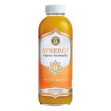 G.T.'s Synergy Mystic Mango Organic Vegan Kombucha - 16 fl oz Bottle