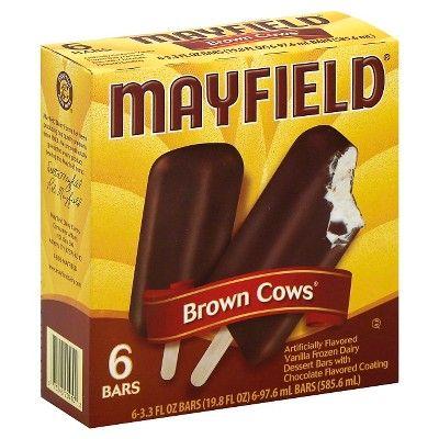 Mayfield Brown Cow Vanilla Ice Cream - 6ct