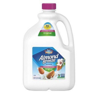 Blue Diamond Almond Breeze Unsweetened Original Almond Milk - 96 fl oz