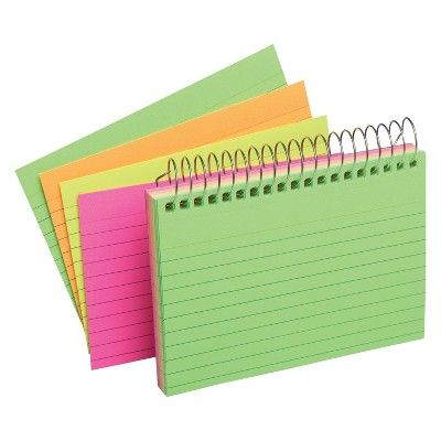 "Up & Up Index Cards Top Spiral Ruled 3"" x 5"" Multicolor - Up&Up"