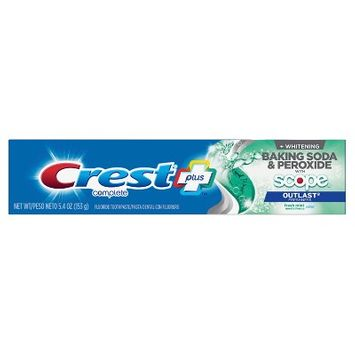Crest + Baking Soda and Peroxide with Scope Outlast Freshness Complete Whitening Toothpaste - 5.4oz