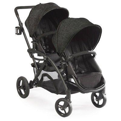 Contours Options Elite Tandem Double Stroller - Carbon