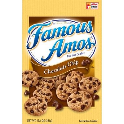 Famous Amos Chocolate Chip Bite Size Cookies - 12.4oz