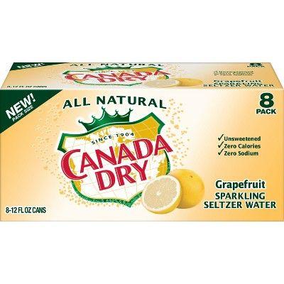 Canada Dry Grapefruit Sparkling Seltzer Water