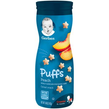 Gerber Puffs - Peach 1.48 oz