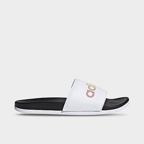 Adidas Men's Essentials Adilette Comfort Slide Sandals in Black/Black Size 7.0