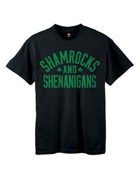 Kids' ComfortSoft�� Shamrocks & Shenanigans Graphic Crewneck Tee
