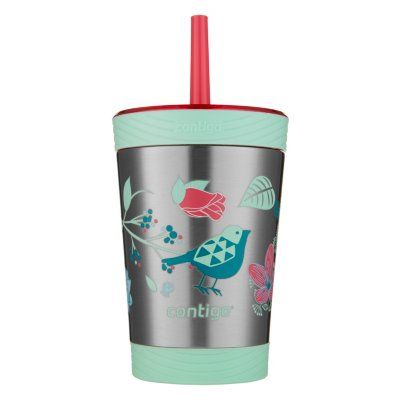 Contigo Kids Spill-Proof Stainless Steel Tumbler with Straw and THERMALOCK®, 12oz