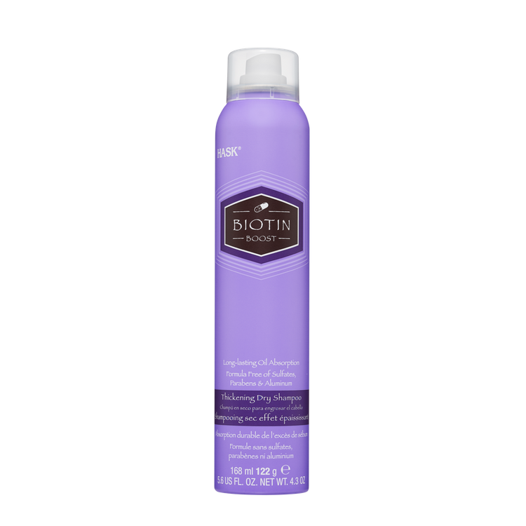 HASK Thickening Dry Shampoo Sulfate Free Biotin Boost with invigorating herbaceous scent, 5.6 fl oz NET WT 4.3 oz