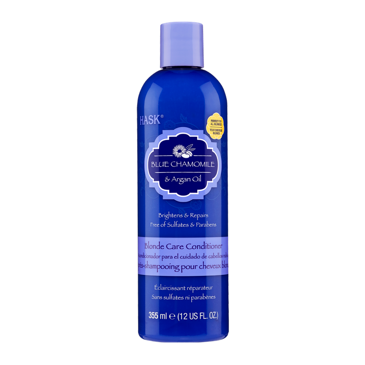 HASK Blue Chamomile with Argan Blonde Conditioner, 12 OZ