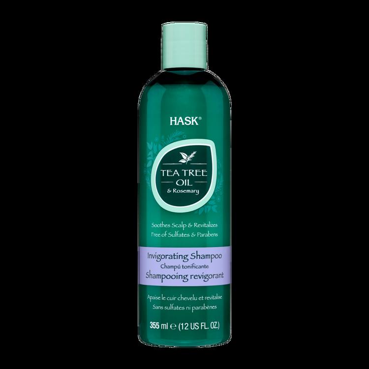 HASK Tea Tree Oil & Rosemary Invigorating Shampoo, 12 OZ