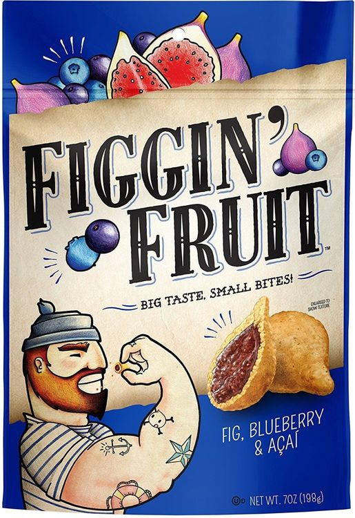Arcadia Farms 287625 Figgin Fruit Bluebry & Acai 7 oz - Pack of 6