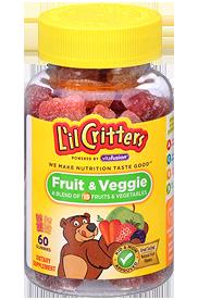 L'Il Critters® Fruit & Veggie Gummy Bears