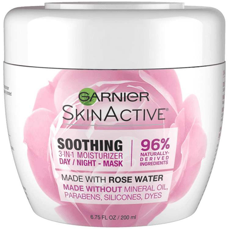 Garnier Soothing 3-in-1 Face Moisturizer with Rose Water