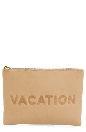 Madewell Vacation Large Pouch, Size One Size - Linen