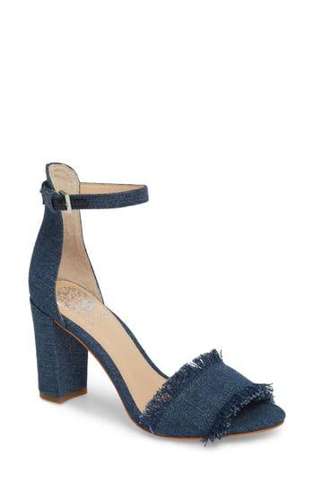 Women's Vince Camuto Corlina Ankle Strap Sandal, Size 7 M - Blue