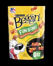 Beggin' Fun Size Dog Treats with Bacon & Cheese Flavor