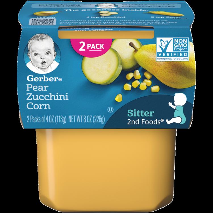 Gerber 2nd Foods Pear Zucchini Corn, 4oz (2ct)