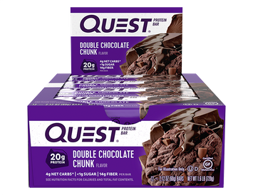Quest Protein Bars - Double Chocolate Chunk - 12 Count